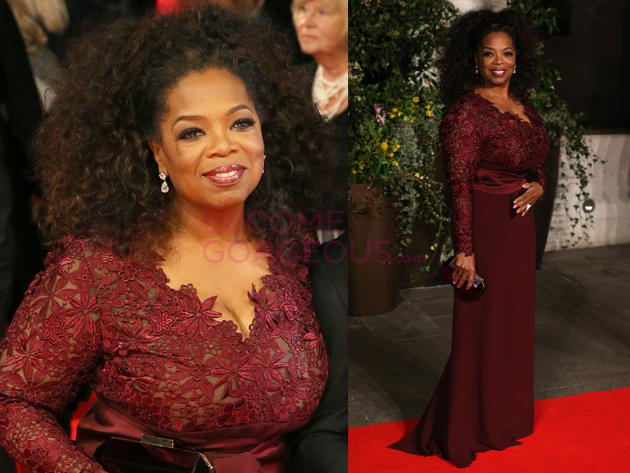 Oprah 2014 Bafta Red Carpet
