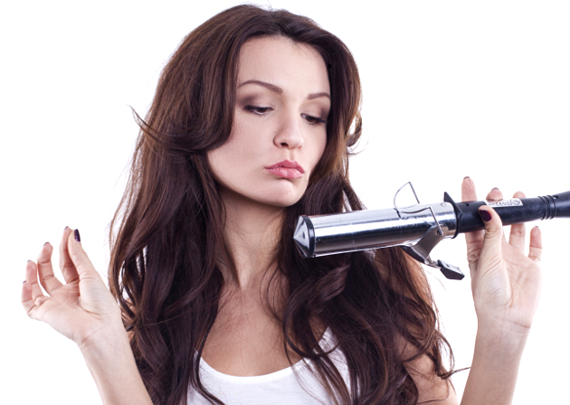 Fake A Blowdry With Curlign Iron