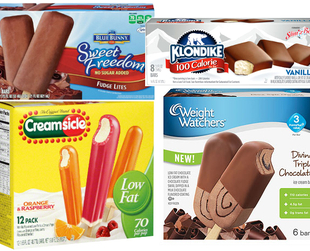 Most of the time ice cream is decadent, but it can also satisfy your sweet tooth when you're on a diet. Discover 10 of the best frozen treats with few calories.