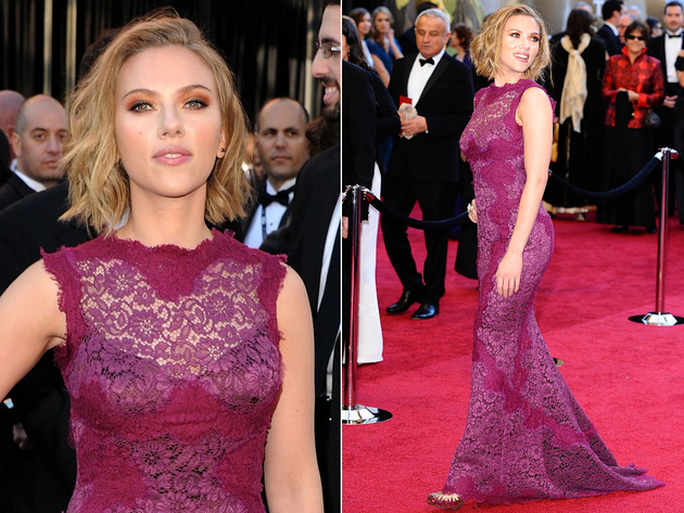 Scarlett Johansson Oscar Dress 2011