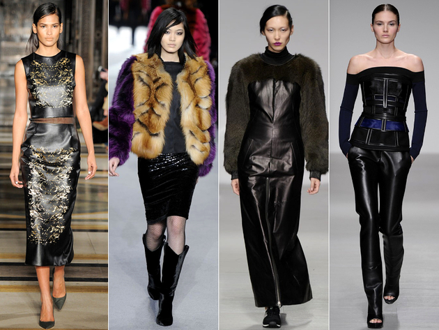 Leather And Fur Fall 2014 Trends