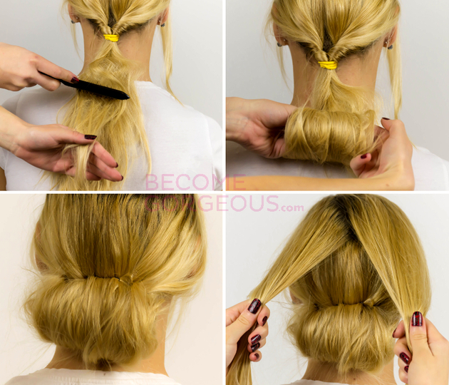 Wedding Hairstyle Tutorials: Pictures : Easy Updo Hairstyle Tutorial