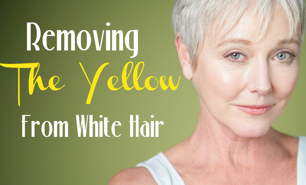 How to Remove Yellow From White Hair