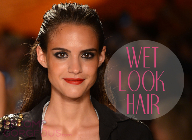 How to Style the Wet Hair Look