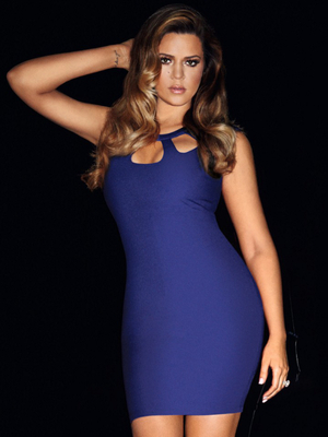 Khloe In Blue Dress From The Kardashian Kollection For Lipsy Spring 2014