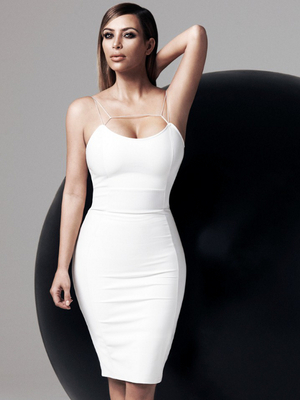 Kim Kardashian White Dress From The Kardashian Kollection For Lipsy Spring 2014