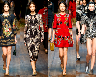 Check out the best highlights from the Dolce & Gabbana, Blumarine, Luisa Beccaria, Bottega Veneta and Alberta Ferretti fall 2014 collections.