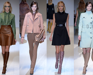 Check out the best highlights from the Gucci, Max Mara, Blugirl, Fendi and Costume National fall 2014 lines.