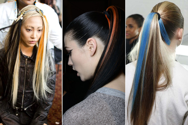 Neon Hair Streaks Fall 2014 Hair Trends