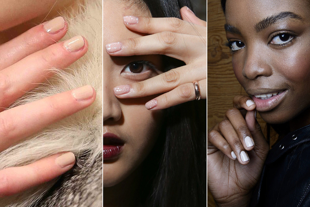 Nude Nail Polish Fall 2014 Makeup Trends