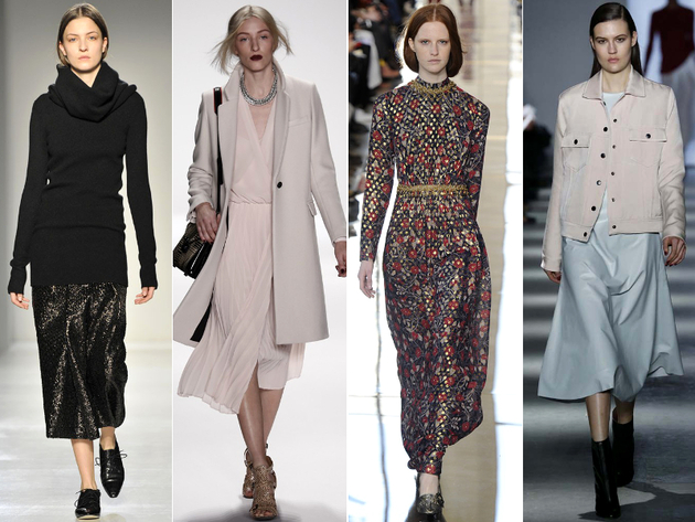 Midi Skirts Fall 2014 Trends