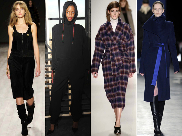 Overalls And Robe Coats Fall 2014 Trends