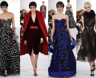 Take a look at the best highlights from the Oscar de la Renta, Badgley Mischka, Marchesa, Jenny Packham and Naeem Khan fall 2014 shows.