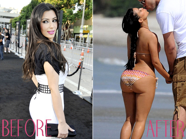 Kim Kardashian Before Butt Implants