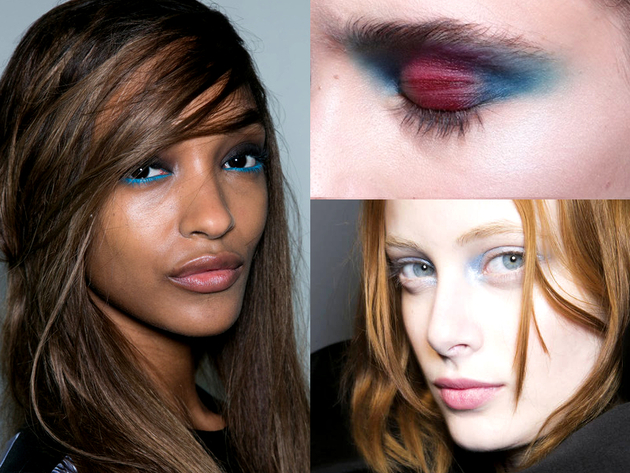 Blue Eye Makeup Fall 2014 Trends