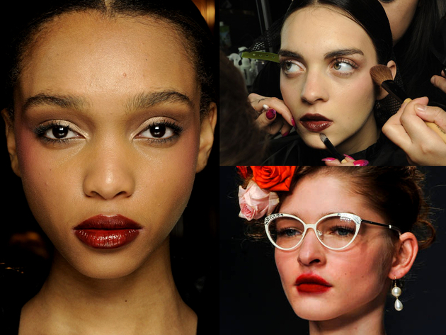 Dark Lips Makeup Fall 2014 Trends