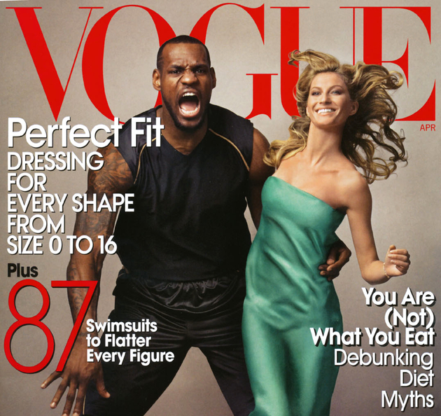 Le Bron James And Gisele Bundchen Vogue