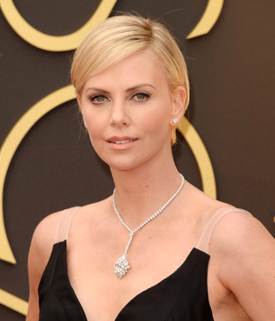 Charlize Theron Oscars Hairstyle 2014