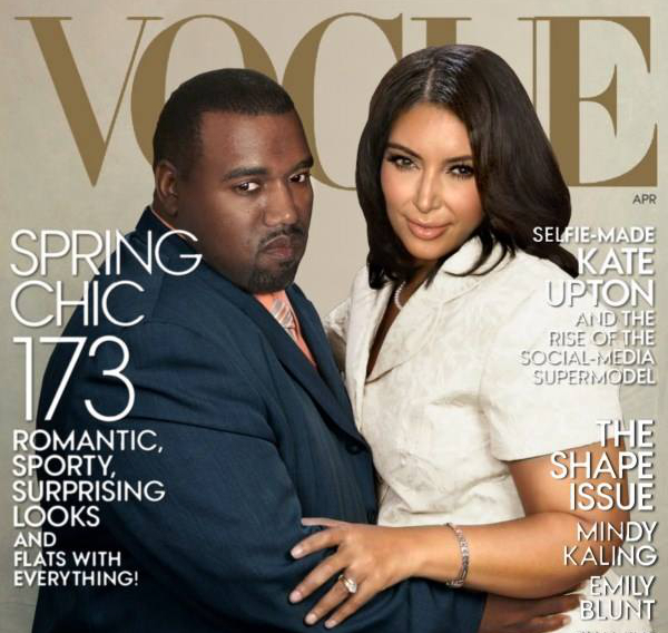 Kim And Kayne Vogue Kover