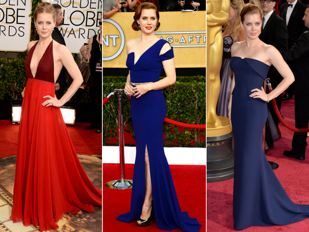 Amy Adams Dresses Award Season 2014