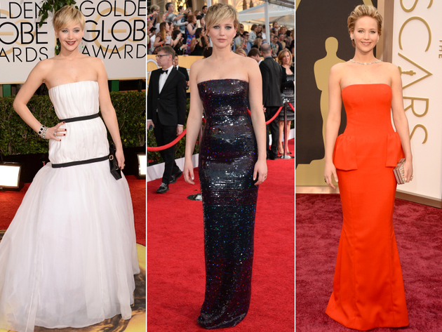 Jennifer Lawrence Dresses Award Season 2014