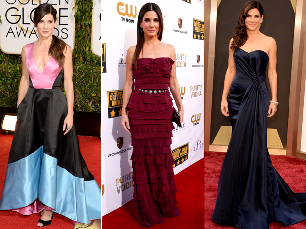 Sandra Bullock Dresses Award Season 2014