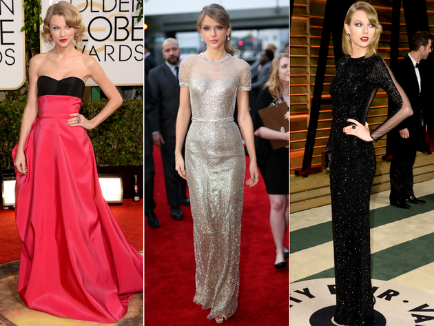 Taylor Swift Dresses Award Season 2014