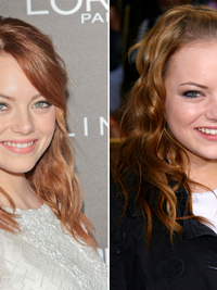 Emma stone different hair colors