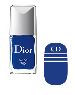 Dior Voyage Transatlantique Nail Polish And Decal In Sailor
