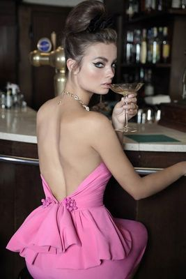 Dsquared2 Pink And Black Dresses 2014 Look  (17)