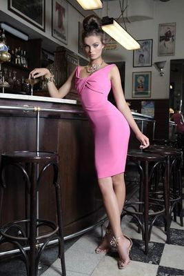 Dsquared2 Pink And Black Dresses 2014 Look  (23)