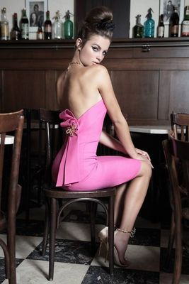 Dsquared2 Pink And Black Dresses 2014 Look  (9)
