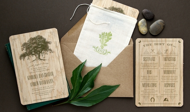 Eco Friendly Wedding Invites