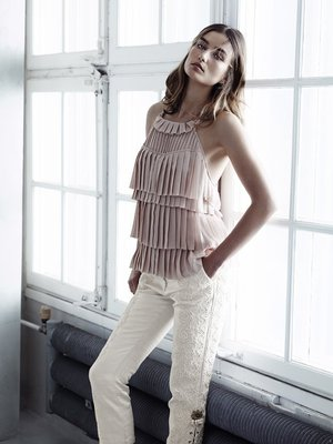 H And M Conscious Collection Pleated Top