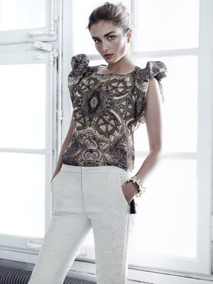 H And M Conscious Collection Printed Top
