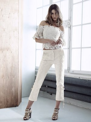 H And M Conscious Collection White Lace Top