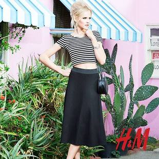 H M Divided Black Flirty Fifties Twist Look 5