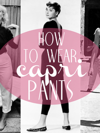 How to Wear Capri Pants