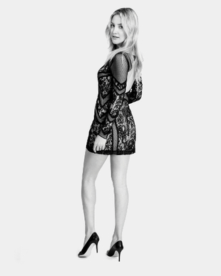 Kate Hudson Ann Taylor Little Black Dress 2014 Collection