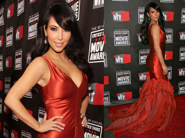Kim Kardashian Critics Choice Movie Awards 2011 Dress