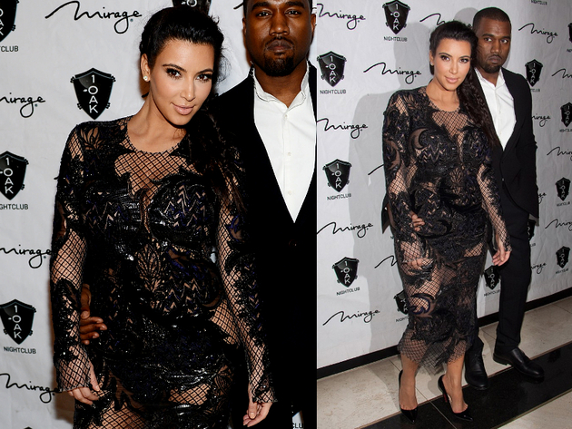 Kim Kardashion Julien Mac Donald Net Dress