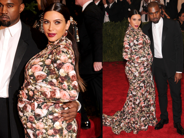Kim Kardashion Givenchy Floral Gown