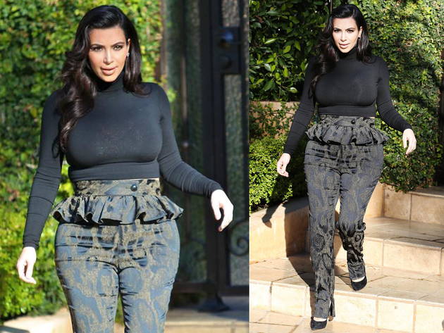 Kim Kardashion Peplum Pants