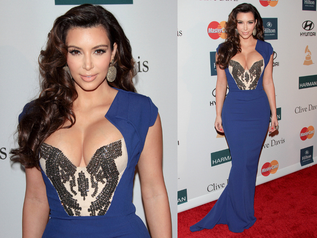 Kim Kardashion Royal Blue Dress
