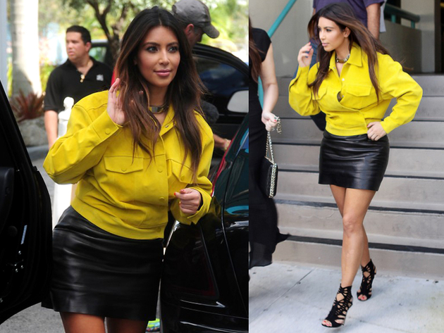 Kim Kardashion Yellow Jacket