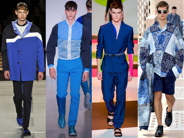 Mens Blue Spring 2014 Trends
