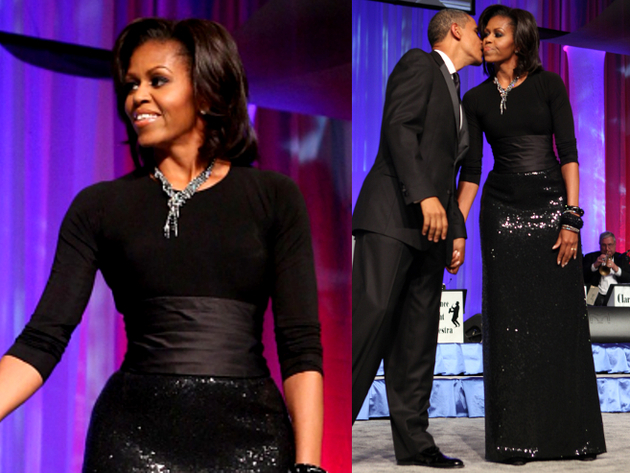 Michelle Obama Michael Kors Sequin Dress
