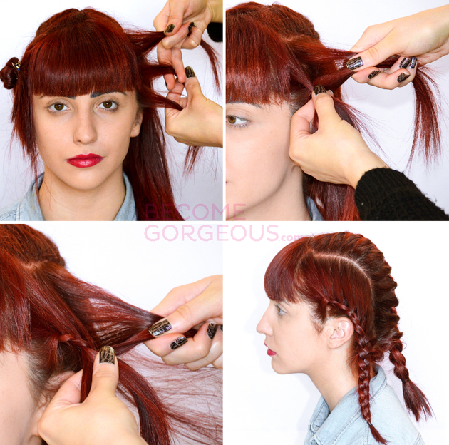 Steps For Braided Updo