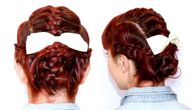 Multiple Braid Updo Hair Tutorial