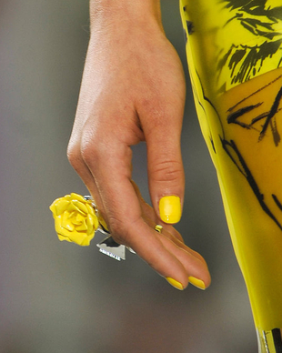 Bright Yellow Nail Polish Trend Spring 2014